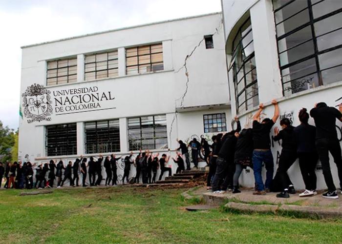 La Universidad Nacional se cae a pedazos