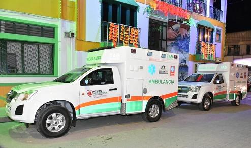 Alcaldía de Montenegro entregó al Hospital Roberto Villa dos ambulancias adquiridas con recursos propios