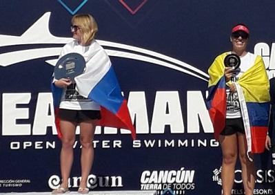Nadadora quindiana medalla de bronce en mundial de natación Aguas Abiertas en Cancún, México