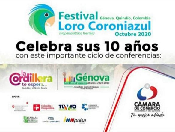 Proyecto de turismo cordillerano, liderado por Cámara de Comercio de Armenia del Quindío, apoyará el desarrollo del festival del Loro Coroniazul