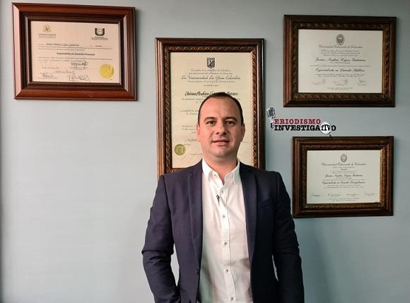 Jaime Andrés López Gutiérrez, el reconocido abogado quindiano que va dejando huella