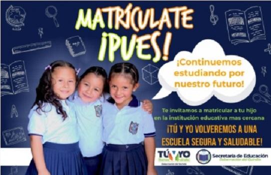 Gobernación hace llamado a la Matriculatón para lograr totalidad de estudiantes en el sistema educativo del Quindío