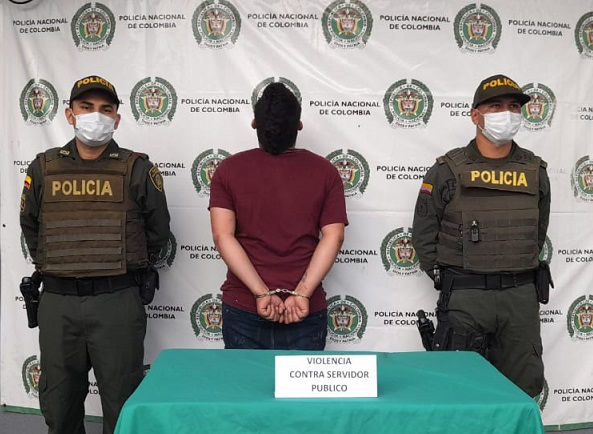 En La Tebaida medida de aseguramiento en centro carcelario para Edwin Agustín Meneses Serna por presunta agresión a policía