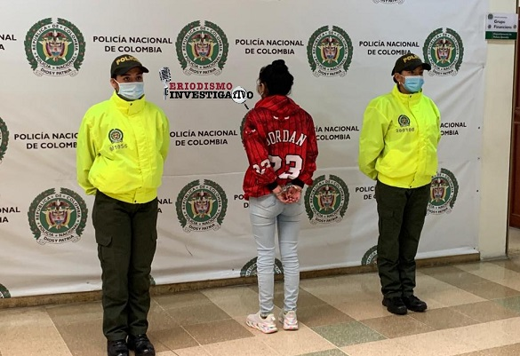 A la cárcel alias 'Yenifer Chispas' una de las más buscadas en el Quindío e integrante del GDCO la 'Línea de la Muerte o Ibéricos 2'