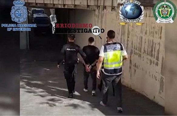 Capturado en Madrid, España, alias 'Nene' sicario colombiano acusado de 100 homicidios