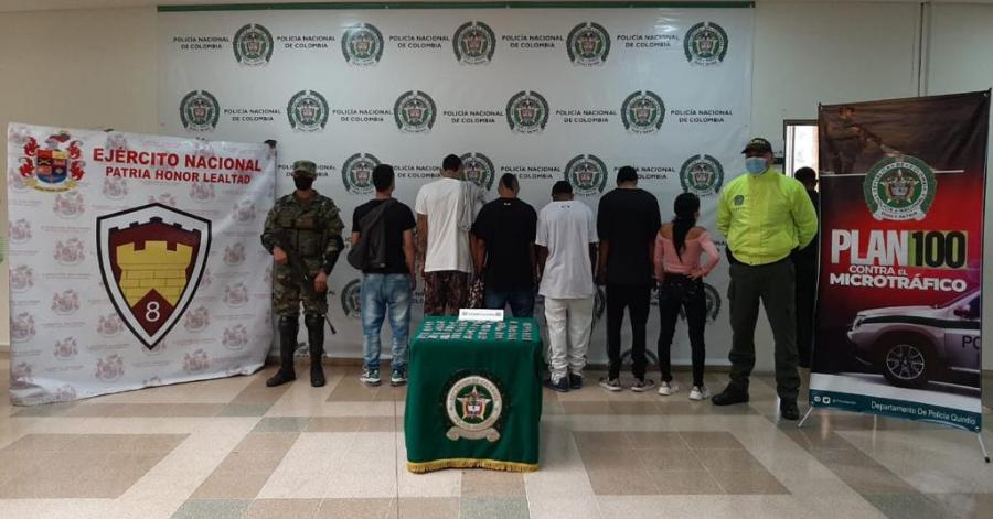 """Judicializados presuntos integrantes del grupo """"Los del Tren"""", al parecer dedicados al tráfico de estupefacientes en La Tebaida"""