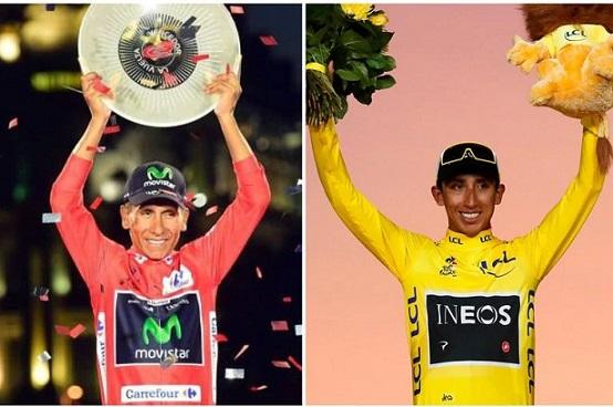 Colombianos Egan Bernal y Nairo Quintana, entre los cinco mejores ciclistas del siglo XXI en grandes vueltas