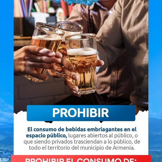 Por ocupación de camas UCI al 95 %, en Armenia se prohibió el consumo de bebidas embriagantes en espacio público