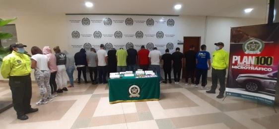En el eje cafetero 16 capturados por tráfico de drogas sintéticas, (VER VIDEOS)