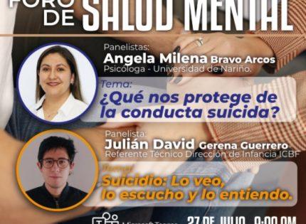Gobernación del Quindío hará foro de salud mental que iniciará próximo martes 27 de julio