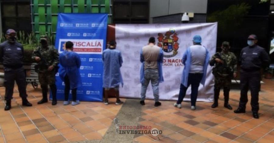Fueron judicializados presuntos integrantes de 'Los del Mocho', supuestamente dedicados al hurto en varios municipios del Quindío
