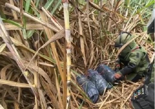 Descubren tres cilindros bomba en vía El Cerrito-Rozo, Valle del Cauca que iban a ser usados para un atentado